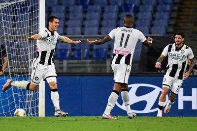 L'Udinese batte la Roma per 2 a 0: sempre più lontana la Champions