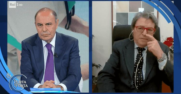 Vaccini anti Covid-19. Vespa si arrabbia e chiude il collegamento a Mariano Amici, il medico che giudica antiscientifiche le affermazioni del professor Remuzzi (Video)